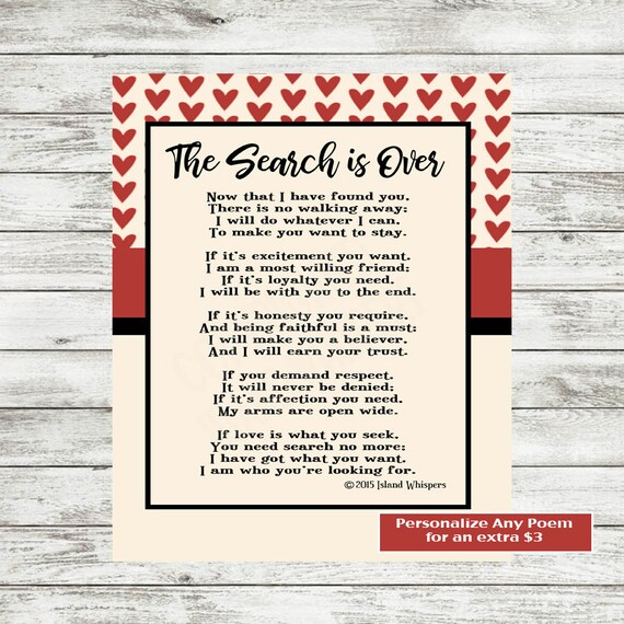 Wedding Poem Valentines Day Poem Love Poem Printable Etsy