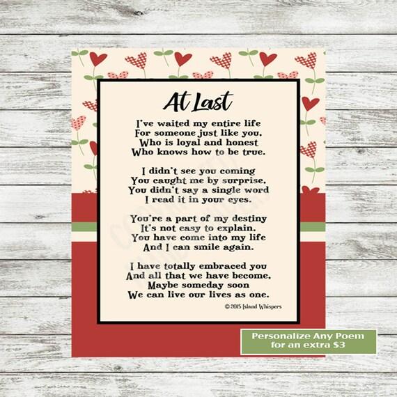 Valentines Day Poem Love Poem Printable Wedding Poem Etsy
