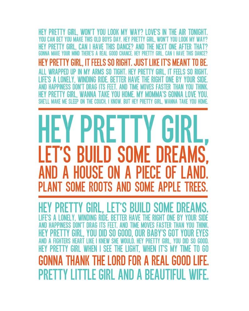 Hey Pretty Girl Print