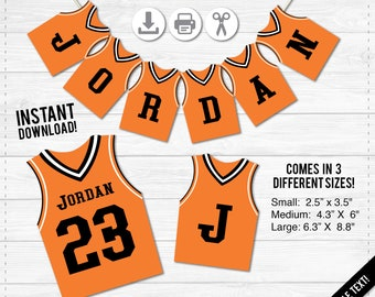 Basketball Jersey Banner - Sports Game - Instant Download PDF file - Fully Editable Text Design- Package Deal- S,M,L