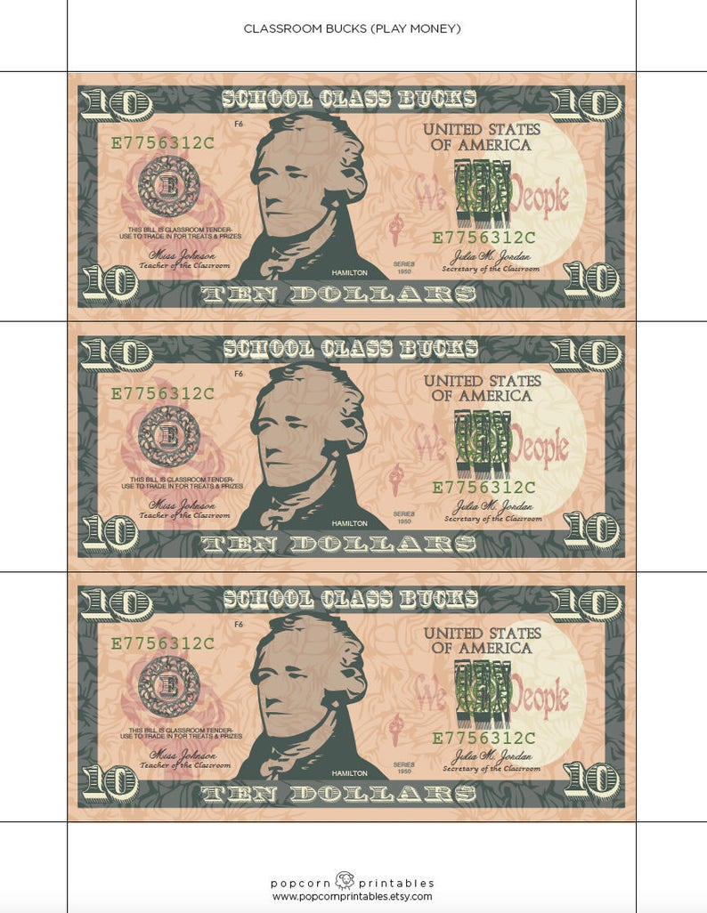 photograph regarding Printable Money for Classroom named Clroom Pounds - Perform Income - Quick Obtain PDF History - University Celebration - Editable Words and phrases History- 2 Webpages - College student Instructor Gain Approach - Pleasurable