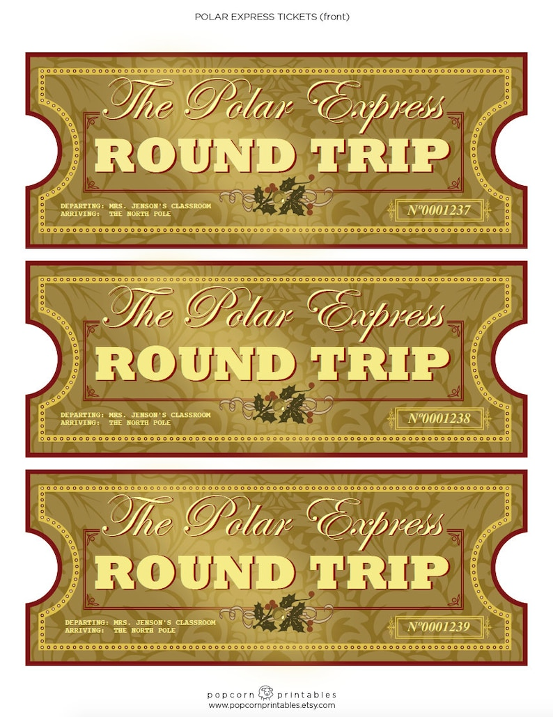 photo about Printable Polar Express Ticket named Polar Convey Tickets - Fast Obtain PDF Report - College Bash- Entirely Editable Words and phrases Report- 2 Webpages - Xmas Printable - All Aboard