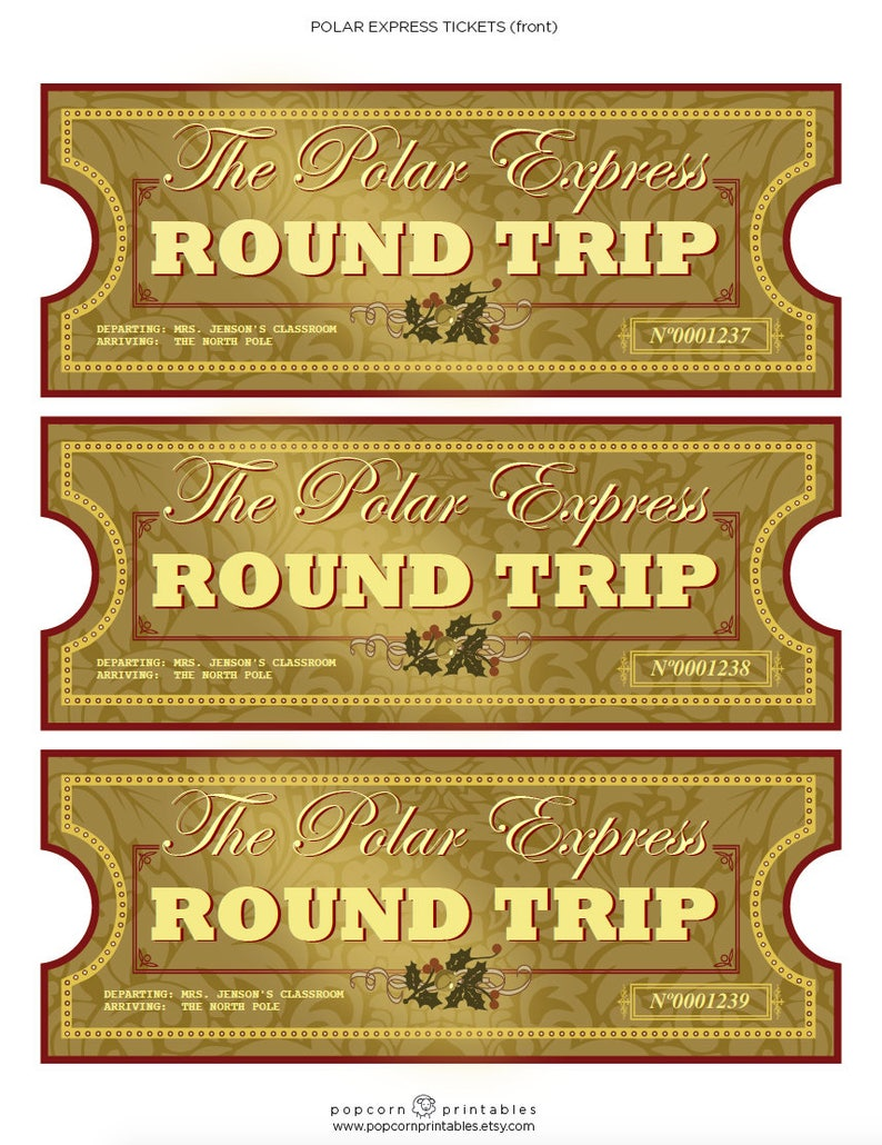 picture about Printable Polar Express Ticket titled Polar Specific Tickets - Instantaneous Obtain PDF Report - College or university Get together- Thoroughly Editable Words and phrases Document- 2 Web pages - Xmas Printable - All Aboard