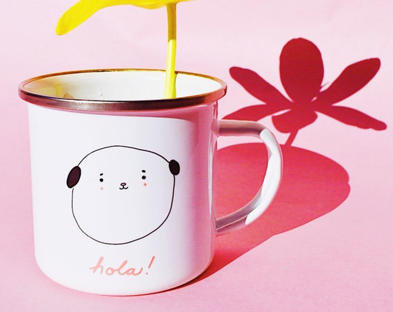 Cute doggie- Enamel mug