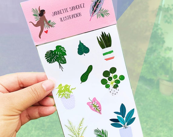 Plant lady stickers sheet 4 X 6 in