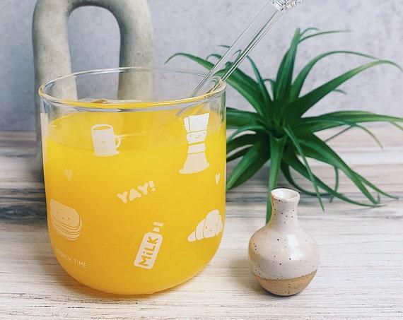 It's brunch time! - clear glass mug