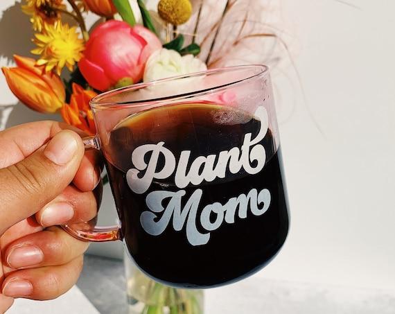 Plant Mom - Clear Pink coffee mug