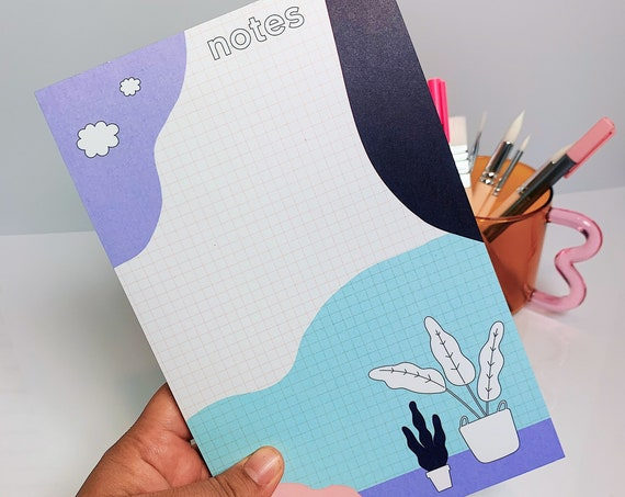 Plant- Notepad 50 sheets- 8.5 X 5.5 in.