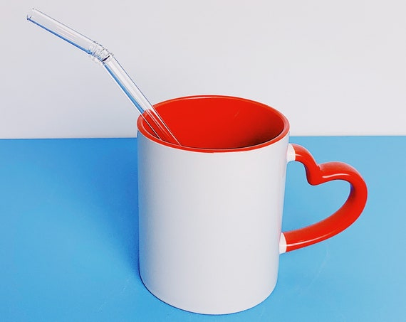 Valentine's Special Red heart handle-Customized mug- Send me your own design for a perfect gift!