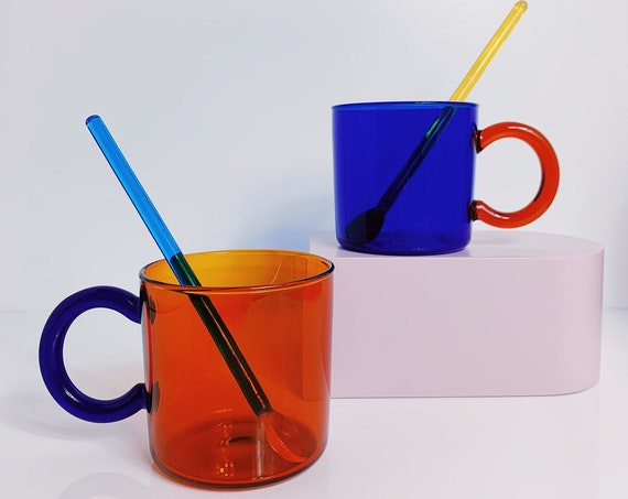 Bourbon glass mug + 1  bend champagne straw.
