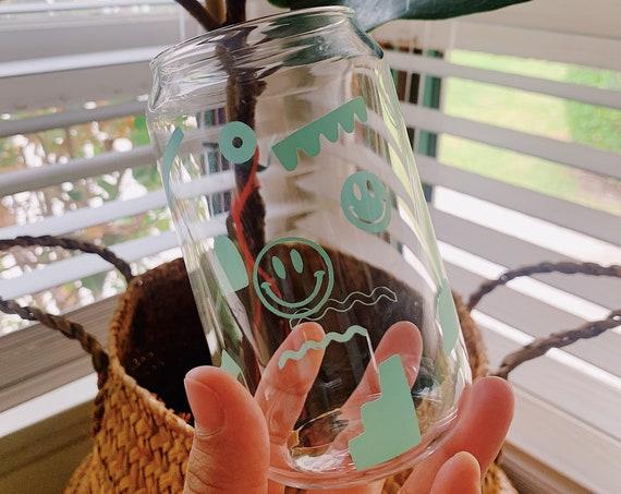 Mint dreams boho coke can glass- Latte mug