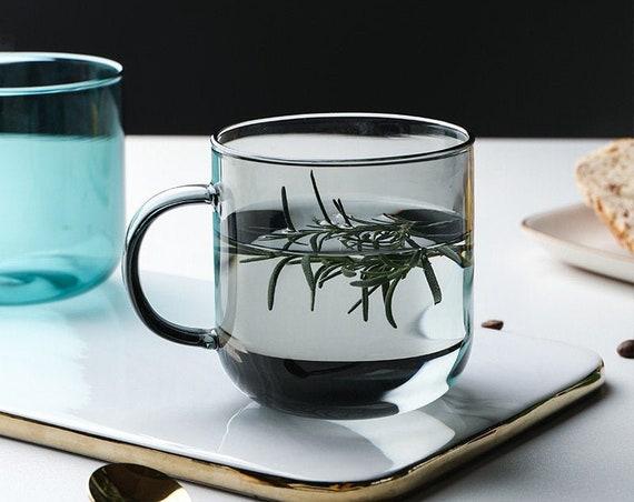 Colorful glass mug