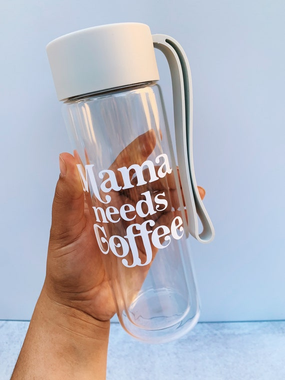Double wall- reusable Glass water bottle.