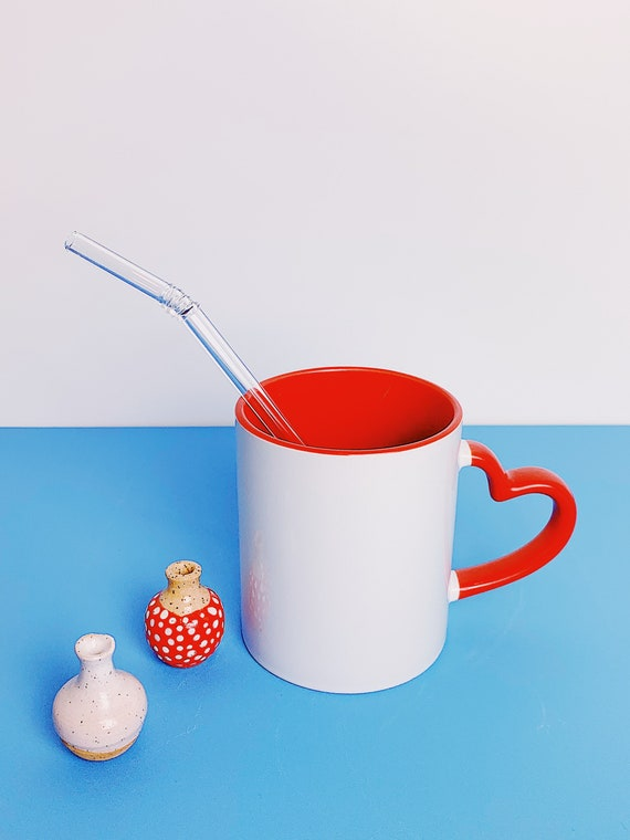 Red Heart handle- Coffee mug