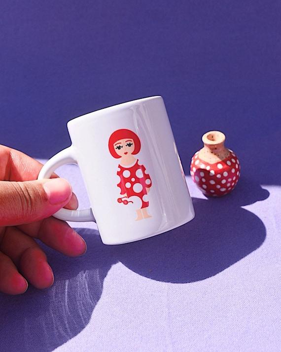 Mini Yayoi Kusama- espresso mug