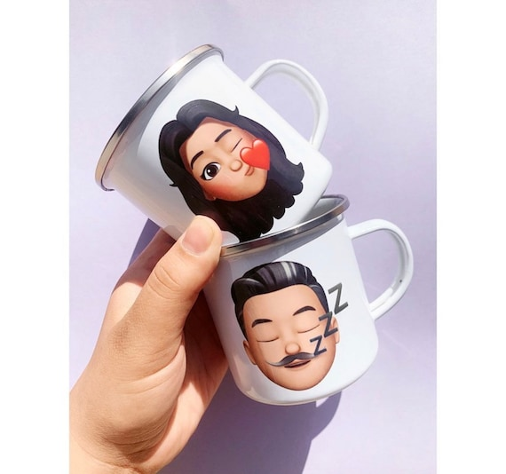 Custom Emoji Coffee mugs
