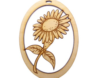 Sunflower Ornament - Sunflower Ornaments - Sunflower Decor - Personalized Free