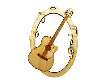 bb2aa43ab7b Personalized Acoustic Guitar Christmas Ornament, Gift for Guitar Player,  Gift for Guitarist, Guitar Gift Ideas for Men, Him, Girls