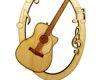 personalized acoustic guitar christmas ornament gift for guitar player gift for guitarist guitar gift ideas for men him girls