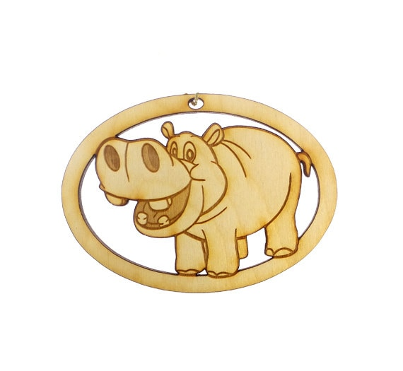 image 0 - Personalized Hippo Ornament Hippo Christmas Ornaments Hippo Etsy