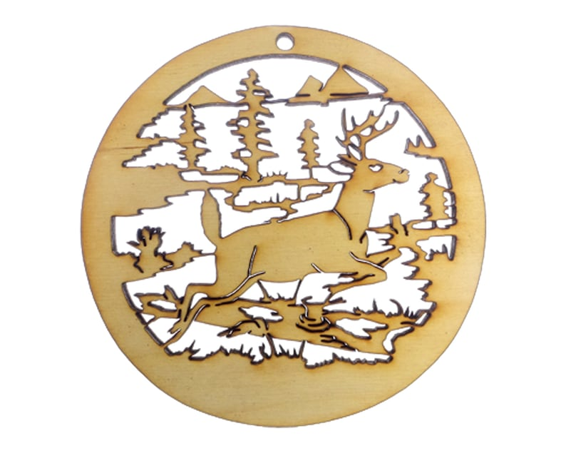 Personalized Deer Ornament Deer Hunting Ornaments Deer image 0