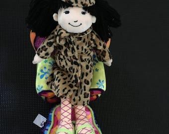 "Vintage 1990's Groovy Girls Soft Body Doll Tomiko Dark Hair 12"""
