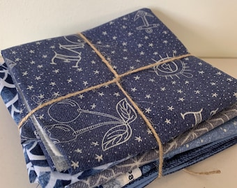 Libs Elliott Fabric - Almost Blue | Modern Fabric | Fat Quarter Bundle