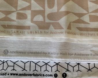 Low Volume Half Metre Bundle | Modern quilters cotton | Modern Background range | low Volume Fabric