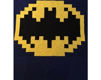 Batman Quilt Pattern | Quilting Pattern | PDF pattern | immediate download | Superhero Quilt