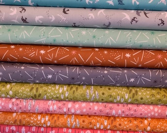 Fat Quarter or Fat Eight fabric bundles | Dashwood Ditsies Fabric | Modern Fabric