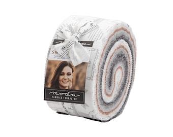 Modern jelly roll fabric Smoke and Rust by Lella Boutique for Moda