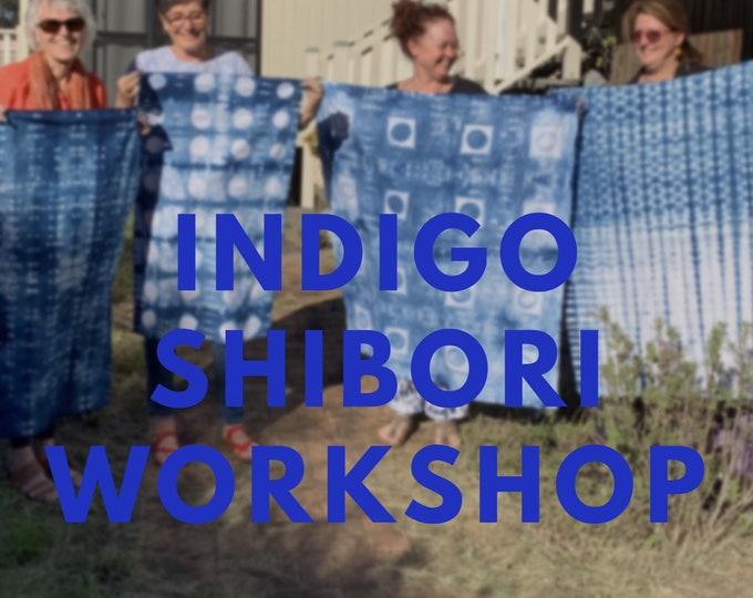 Featured listing image: Indigo Shibori Workshop for Beginners - Mount Crosby Brisbane
