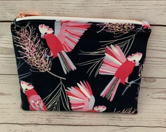 Zippered pouch | Galah fabric
