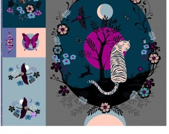 Tiger Fly Digital Package Panel - Ruby Star Society for Moda by Sarah Watts
