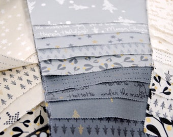 Modern layer cake | White Christmas by Zen Chic for Moda | patchwork fabric | quilters cotton