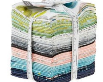 Fat Quarter Day in Paris by Zen Chic for Moda. Patchwork fabric. Modern colours. Quilters cotton