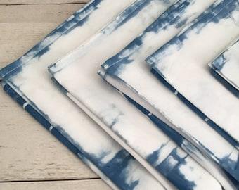 Cotton Napkins / Servettes | Home Decor | Shibori dyed | Indigo Napkins