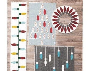Sew Kind of Wonderful pattern | Mod Lights | Tree | Wreath | Table Runner | wall Hanging | QCR mini | Quick Curve Ruler