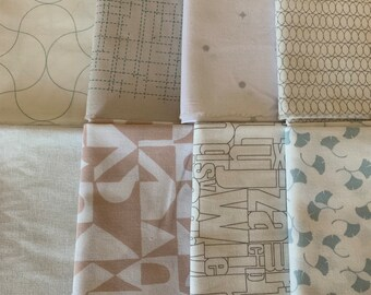 Low Volume fat quarter Bundle | Modern quilters cotton | Modern Background range | low Volume Fabric