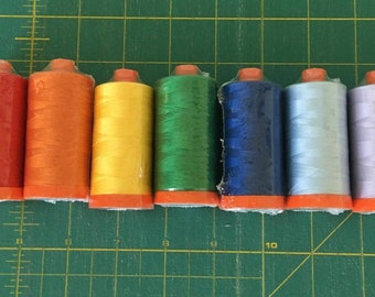 Aurifil thread | rainbow l thread | Sewing and Quilting