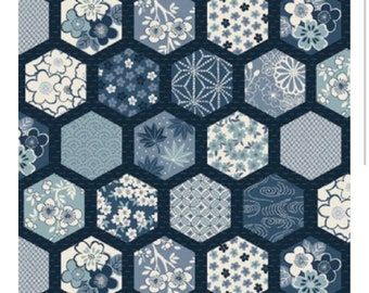 Home Makower Fabrics - Indigo - Modern Fabric