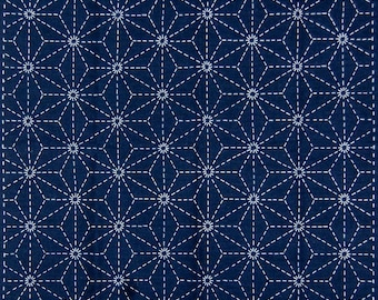 Sashiko Sampler Kit - Star Navy
