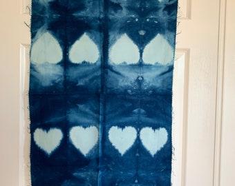 Shibori Indigo Hand Dyed  Fabric | Modern Fabric | Cotton Tie Dyed Fabric | Quilt Fabric