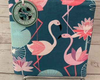 Zippered pouch | Flamingo fabric | Purse