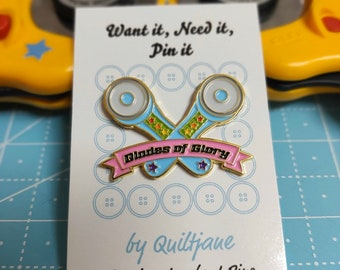 Blades of Glory Lapel Pin by Quilt Jane