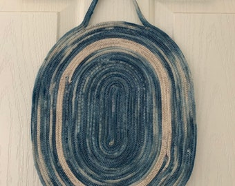 Rope Wall Hanging | Trivet | Rope Trivet | Wall Hanging | Placemat | Shibori dyed rope