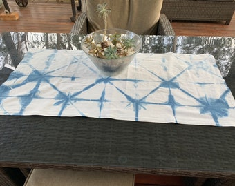Shibori Table Runner | Boho Table Runner | Boho Home Decor