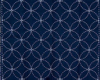 Sashiko Sampler Kit - Wineglass Navy