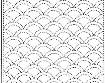 Sashiko Sampler Kit - Clams White