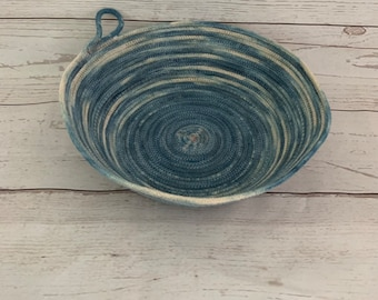 Rope Bowl | Cotton Rope Bowl | Home Decor | Shibori dyed rope